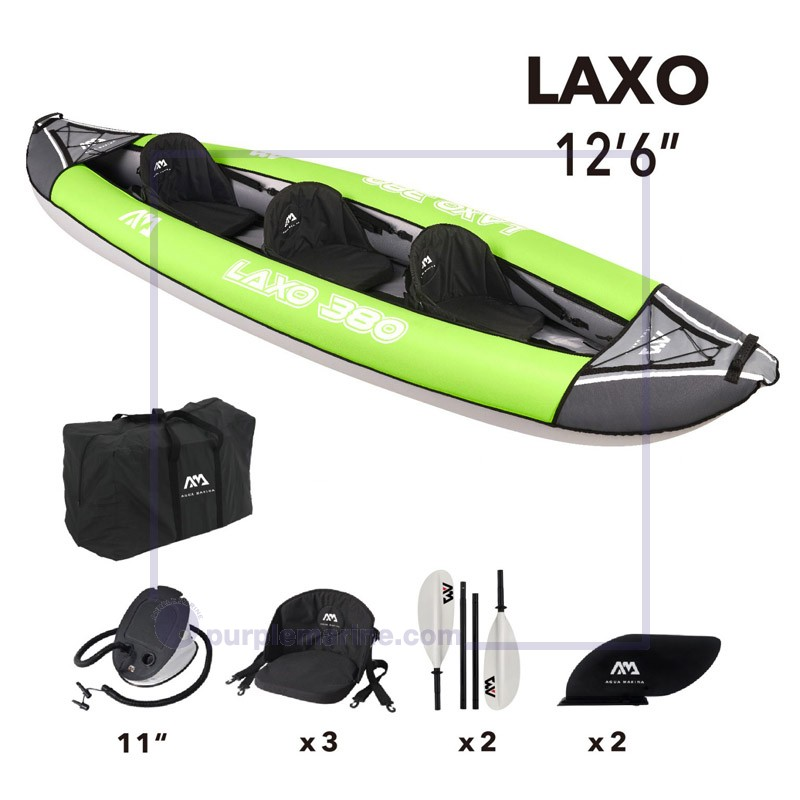 "Aqua Marina Laxo 380 12'6"" Inflatable Kayak 2021"