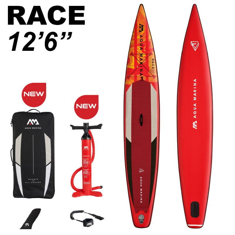 """Aqua Marina Race 12'6"""" Inflatable Stand Up Paddle Board Package 2021"""