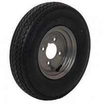 "Trailer Road Wheel 8"" Silver Rim"