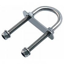 Allen U Bolt with top plate - 6mm Rod  A4671