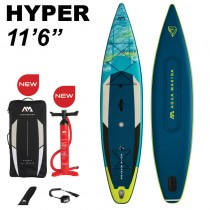 "Aqua Marina Hyper 11'6"" Inflatable Stand Up Paddle Board Package 2021"