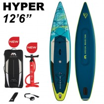 "Aqua Marina Hyper 12'6"" Inflatable Stand Up Paddle Board Package 2021"