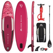 "Aqua Marina Coral 10'2"" Ladies Inflatable Stand Up Paddle Board Package 2021"