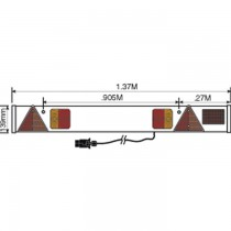 Trailer Lighting Board with Fog Light 6 Metre Cable