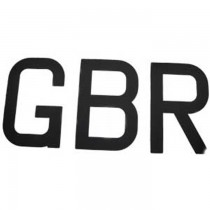 "Topper Sail Letters GBR Black 9"" (230mm) Set SL230"